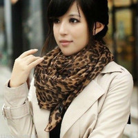 HOT Style Fashion Long Leopard Shawl Scarf Wrap Lady Chiffon Scarves NEW SALES = 1958041988