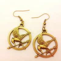 HUNGER GAMES birds earrings women white metal earrings  EH66