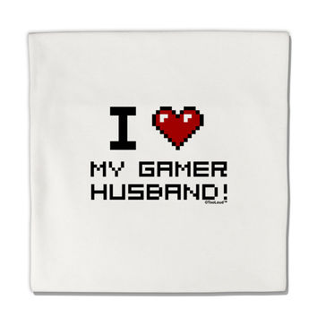 "I Heart My Gamer Husband Micro Fleece 14""x14"" Pillow Sham"