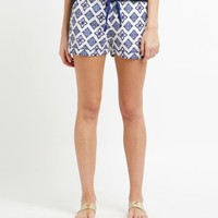 Whale Tail Tile Print Shorts