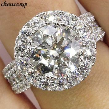 choucong Vintage Promise Finger Ring 925 sterling Silver AAAAA cz Engagement Band Rings For Women Bridal Wedding Jewelry