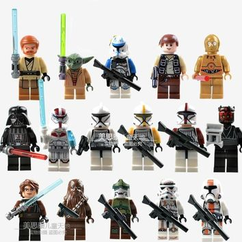Star Wars Force Episode 1 2 3 4 5 16pcs/Set  Collection Sith Jedi Knight Building Bricks Blocks Figures Toys Compatible With Lego AT_72_6