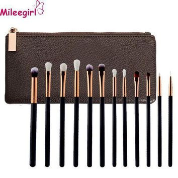 PEAPYV3 Mileegirl 12Pcs/Lot Eyes Makeup Brush Foundation Powder Eyebrow shadow Eyeliner Lip Brush Tools Highlighter Eyeshadow brush Set