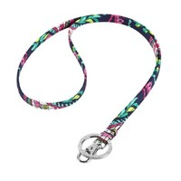 Vera Bradley Lanyard Necklace in Many Colors Petal Paisley