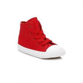 CREYON converse all star chuck taylor ii infant salsa red white trainers d4c6a3cc4