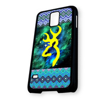 Aztec Browning Nebula Green Samsung Galaxy S5 Case