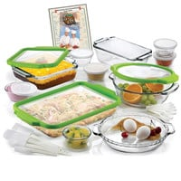 32-Piece Glass Bakeware & Food Storage Set with Lids