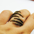 Antique Brass Plated Steam Punk Gothic Ring - Alloy Six Beast  Claws Jewelry - Adjustable