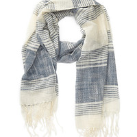 Textured Mixed-Stripe Scarf