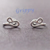 The Siren Collection Set of TWO Siren Tragus Cuffs silver wire mermaid nose cuff ear cuff