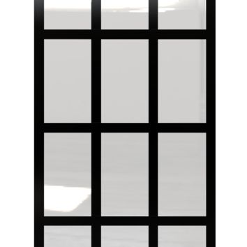Gridscape GS1 Fixed Panel Factory Window Room Divider Partition in Black and Clear Glass
