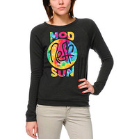 Neff x Mod Sun Tie Dye Girls Black Crew Neck Sweatshirt  at Zumiez : PDP