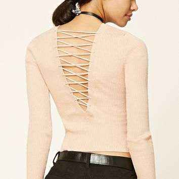 Crisscross-Back Sweater