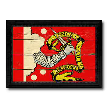 Bedford Military Flag Vintage Canvas Print with Black Picture Frame Home Decor Wall Art Decoration Gift Ideas