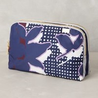 Floragrid Cosmetic Case by Kestrel Purple Motif One Size Jewelry