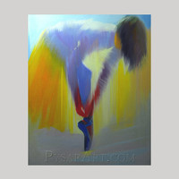 yellow dancer print on canvas- ballerina art - canvas art by Yuri Pysar