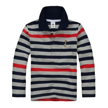 High Quality Kids Boys Polo Shirt Brand Children Long Sleeve Shirt Warm Cotton T-Shirt