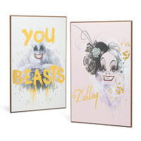 Disney Villains Foiled Wall Art - Exclusive