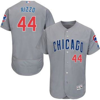 Men's Chicago Cubs Anthony Rizzo Majestic Road Gray Flex Base Authentic Collection Player Jersey