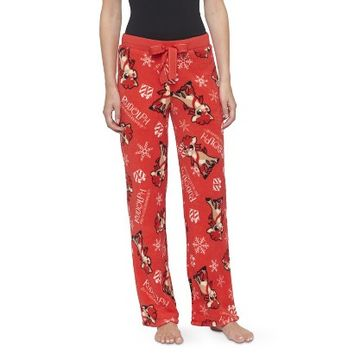 Rudolph Women's Sleep Pant Red