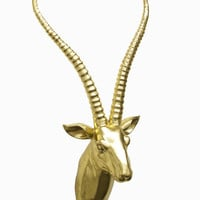 Contemporary Styled Gold Resin Antelope Wall decor