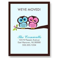 Lovely Owls Moving Announcements Post Cards from Zazzle.com