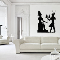 Vinyl Wall Decal Sticker Bedroom Ancient Egypt Queen Worship Gifts Living Room R1659