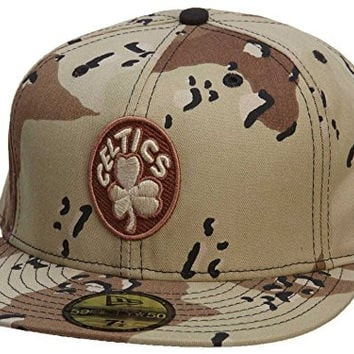 New Era Boston Celtics Fitted Hat Mens Style: HAT292-TAN/MUD Size: 7.375