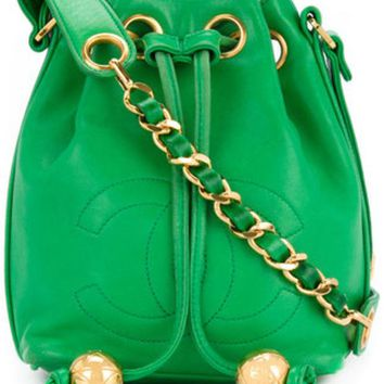 GKIN3 Chanel Vintage Bucket Chain Shoulder Bag