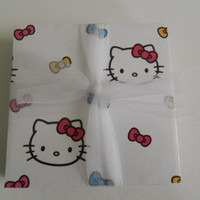 Hello Kitty Print Tile Coasters by LoopyLoopCreations on Etsy