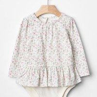 Gap Long Sleeve Floral Body Double