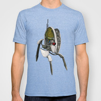 Portal Turret - Cross Section Illustration T-shirt by Alex Gabbott
