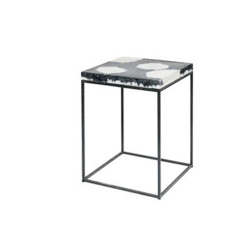 Cowhide -like Concrete side/end table or bench or chair or stool [PCD234]