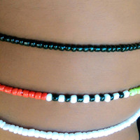 Red Black Green White Scented African Waist beads Belly Dance Belt Binbin waistbeads