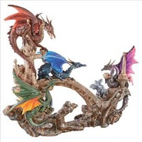 Battle Of Valhalla Dragon Statue - Design Toscano