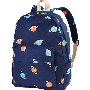 Saturn Pattern Backpack - INU INU