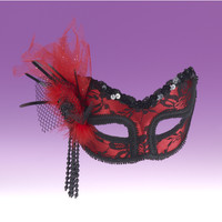 Red Lace Mask – Spirit Halloween
