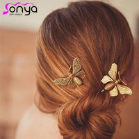 MWsonya Vintage Hairpins for Women Lady Fashion Hair Jewelry Butterfly Pattern Hair Accesories A1205