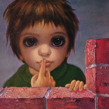 Big Eyes | Vintage Print Photo | 1963 THE WHISPER | Margaret Keane | Walter Keane