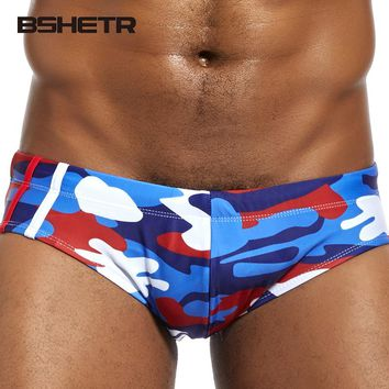 BSHETR Brand Men Briefs Camouflage Color New Shorts Sexy Male Underwear Slip Low Rise Ultimate Beach Trunks Underpants