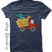 Second Birthday Shirt - Toddler Dump Truck Party / 2nd Birthday Tshirt / Truck Birthday Party / Birthday Boy Shirt / Girls Trucking Tee Age