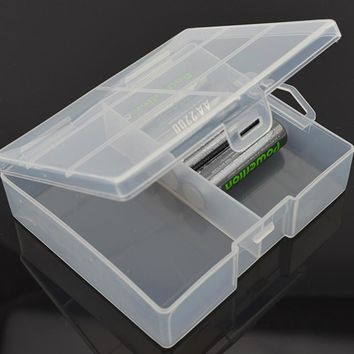 AA Battery Storage Box Case holder Plastic battery Container storage holder for Maximum 24 X AA Batteries Organizer Box Case