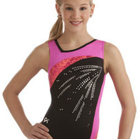 Coral Crackle Gymnastics Leotard from GK Elite