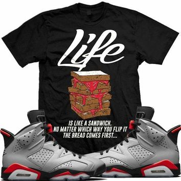 Air Jordan Retro 6 Reverse Infrared 3M Sneaker Tees Shirts - LIFE SANDWICH