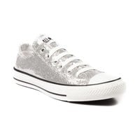 Converse All Star Lo Glitter Athletic Shoe, Silver, at Journeys Shoes