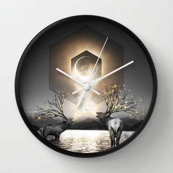 Moon Dust In Your Lungs Wall Clock by Soaring Anchor Designs