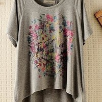 vintage floral garden batwing loose t-shirt from SarahHunt