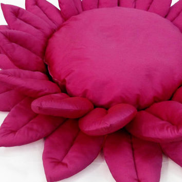 Meditation Pillow-Pink Pillow-Round Floor pillow-Lotus Flower-Boho Lotus Charm-Buddha Pillow-Bohemian Pouf-