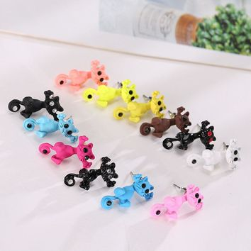 New Arrival imitation pearl Kitty Cat Cute Stud Earrings set for Women Girl 9 colors
