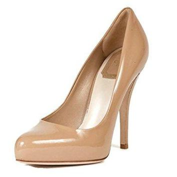 Chirstian Dior Beige Patent Leather Pumps Size 35.5 US 5.5